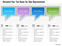 1214 Horizontal Four Text Boxes For Data Representation Powerpoint Template