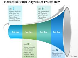 1214 Horizontal Funnel Diagram For Process Flow Powerpoint Template