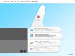 1214 Human Hand With Thumb Up Condition Powerpoint Template