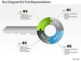 1214 Key Diagram For Text Representation Powerpoint Template