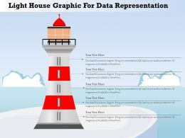 1214 Light House Graphic For Data Representation Powerpoint Template