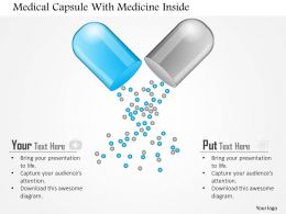 1214 Medical Capsule With Medicine Inside Powerpoint Template