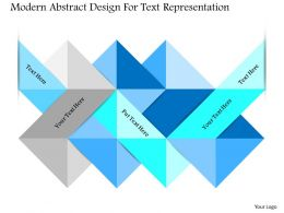 1214 Modern Abstract Design For Text Representation Powerpoint Template