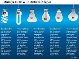 1214 Multiple Bulbs With Different Shapes Powerpoint Template