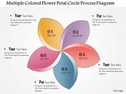 1214 Multiple Colored Flower Petal Circle Process Diagram Powerpoint Template