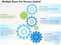 1214 Multiple Gears For Process Control Powerpoint Template