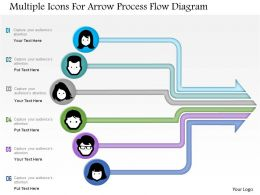 1214 Multiple Icons For Arrow Process Flow Diagram Powerpoint Template