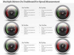 1214 Multiple Meters On Dashboard For Speed Measurement Powerpoint Slide