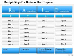 1214 Multiple Steps For Business Doc Diagram PowerPoint Template