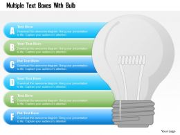 1214 Multiple Text Boxes With Bulb Powerpoint Template