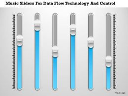 1214 Music Sliders For Data Flow Technology And Control PowerPoint Presentation