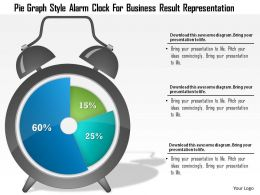 1214 Pie Graph Style Alarm Clock For Business Result Representation PowerPoint Template