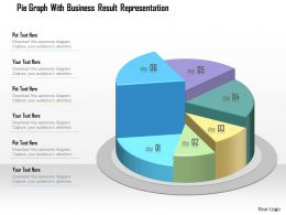 1214 Pie Graph With Business Result Representation Powerpoint Template