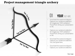 1214 Project Management Triangle Archery Powerpoint Presentation