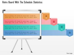 1214 Ret Board With The Schedule Statistics Powerpoint Template