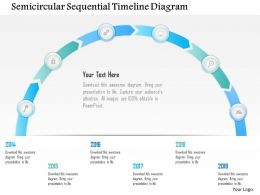 1214 Semicircular Sequential Timeline Diagram Powerpoint Template