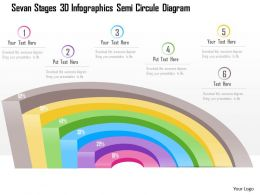 1214 Seven Staged 3d Infographics Semicircular Diagram Powerpoint Template
