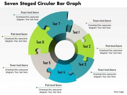 1214 Seven Staged Circular Bar Graph PowerPoint Template