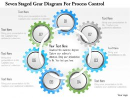 1214 Seven Staged Gear Diagram For Process Control Powerpoint Template