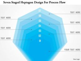 1214 Seven Staged Heptagon Design For Process Flow PowerPoint Template