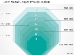 1214 Seven Staged Octagon Process Diagram Powerpoint Template