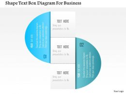 1214 Shape Text Box Diagram For Business Powerpoint Template