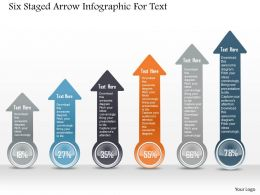 1214 Six Staged Arrow Infographic For Text Powerpoint Template