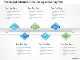 1214 Six Staged Business Timeline Agenda Diagram PowerPoint Template