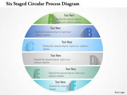 1214 Six Staged Circular Process Diagram Powerpoint Template