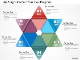 1214 Six Staged Colored Star Icon Diagram Powerpoint Template