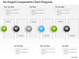 1214 Six Staged Comparative Chart Diagram Powerpoint Template
