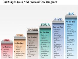 1214 Six Staged Data And Process Flow Diagram Powerpoint Template