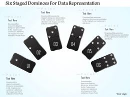 1214 Six Staged Dominoes For Data Representation Powerpoint Template