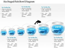 1214 Six Staged Fish Bowl Diagram PowerPoint Presentation