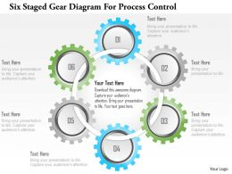 1214 Six Staged Gear Diagram For Process Control Powerpoint Template