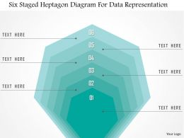 1214 Six Staged Heptagon Diagram For Data Representation Powerpoint Template