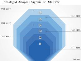 1214 Six Staged Octagon Diagram For Data Flow PowerPoint Template
