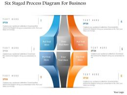 1214 Six Staged Process Diagram For Business Powerpoint Template