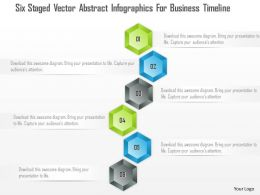 1214 Six Staged Vector Abstract Infographics For Business Timeline PowerPoint Template