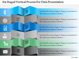 1214 Six Staged Vertical Process For Data Presentation Powerpoint Template