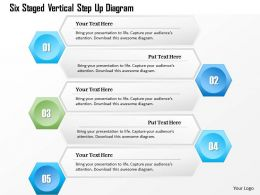 1214 Six Staged Vertical Step Up Diagram Powerpoint Template