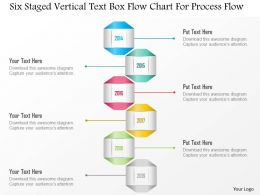1214 Six Staged Vertical Text Box Flow Chart For Process Flow PowerPoint Template