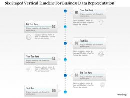 1214 Six Staged Vertical Timeline For Business Data Representation PowerPoint Template
