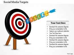 1214 Social Media Targets Powerpoint Presentation