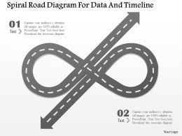 1214 Spiral Road Diagram For Data And Timeline Powerpoint Template