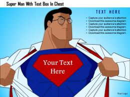 1214 Super Man With Text Box In Chest Powerpoint Template