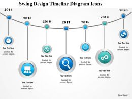 1214 Swing Design Timeline Diagram Icons PowerPoint Presentation