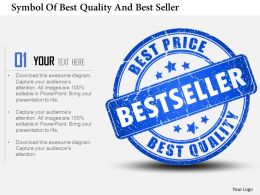1214 Symbol Of Best Quality And Best Seller Powerpoint Template