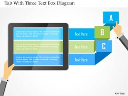 1214 Tab With Three Text Box Diagram Powerpoint Template