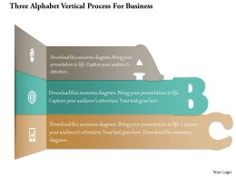 1214 Three Alphabet Vertical Process For Business Powerpoint Template